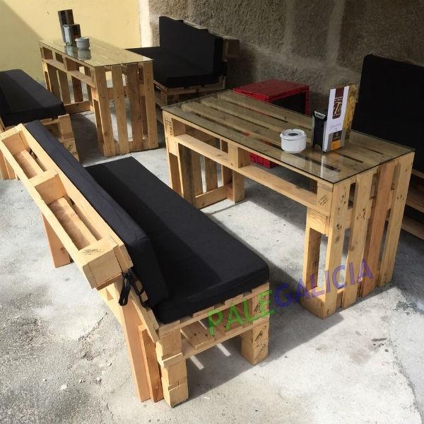 Sof y mesa de palets palegalicia - Mesas de palet ...