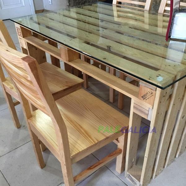 mesa de palets ampliar compartir en facebook imprimir - Mesa Con Palets