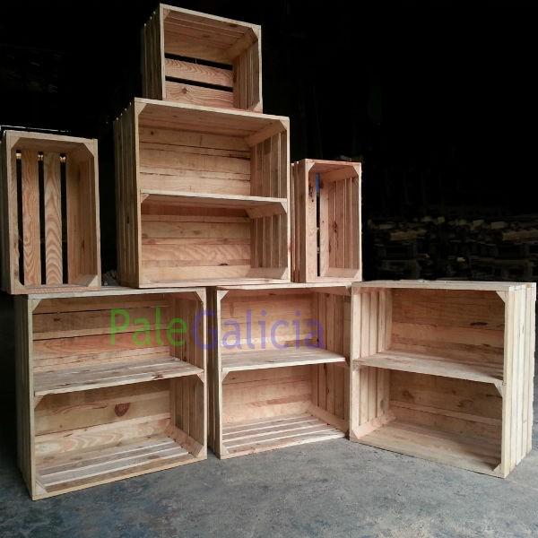 Cajas de madera para estanterias palegalicia for Estanterias con cajas de madera